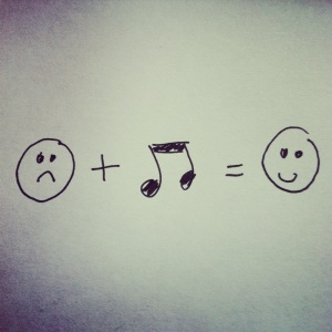 Music equals happiness